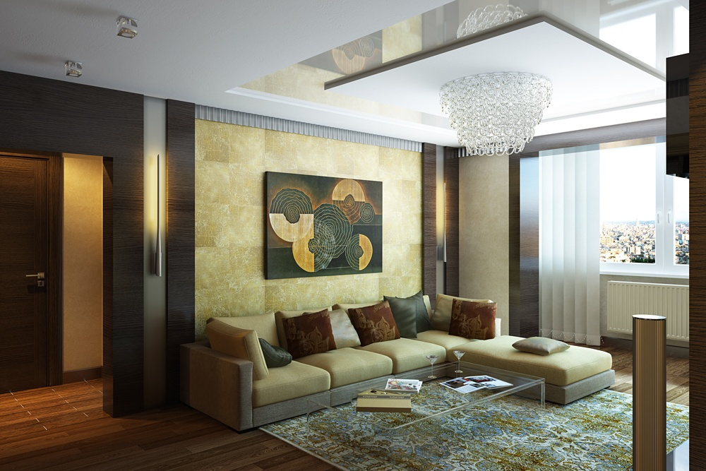living room in Blender cycles render image