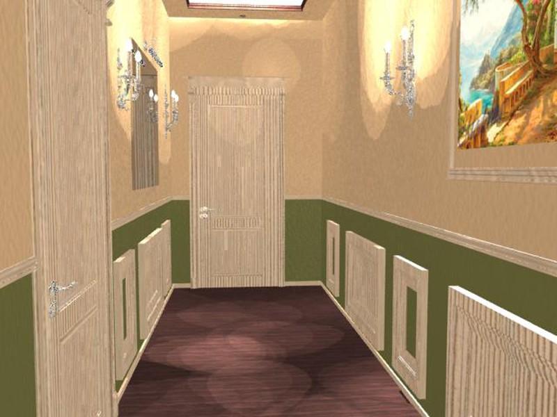 коридор в 3d max mental ray зображення