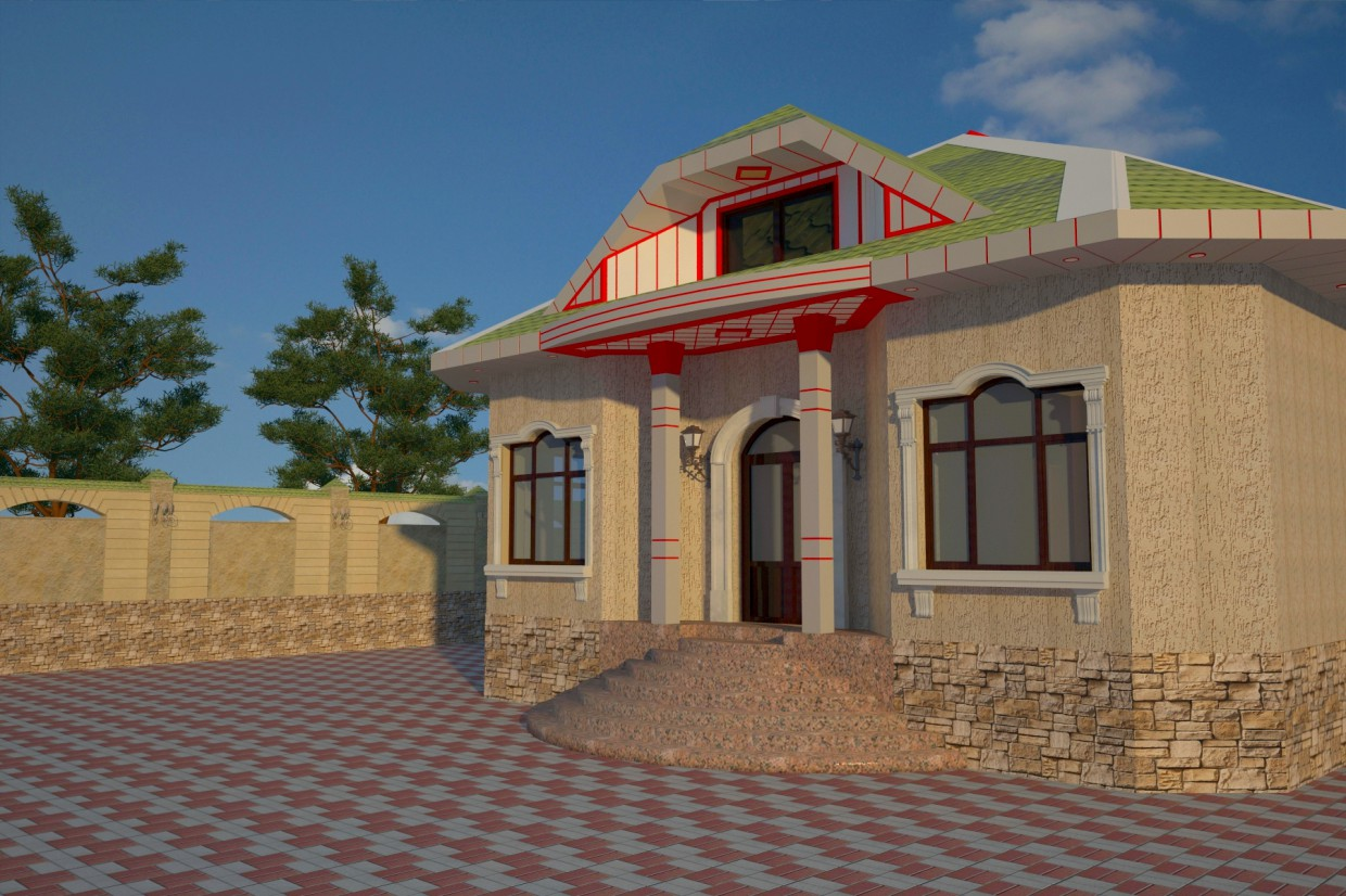 Cottage in 3d max vray 2.5 image