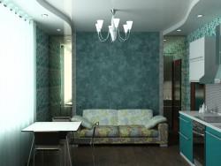 Interieur der Küche-Wohnzimmer