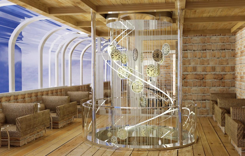 кафе в 2 этажа в 3d max vray изображение
