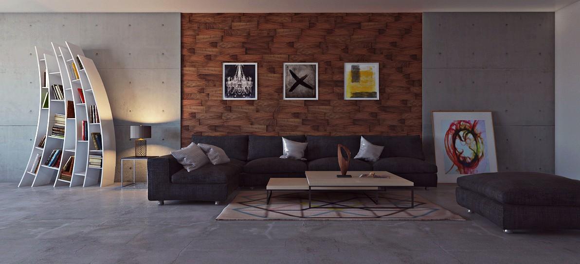 visualización 3D del proyecto en el Diseño de salón 3d max render mental ray bilal mezzari