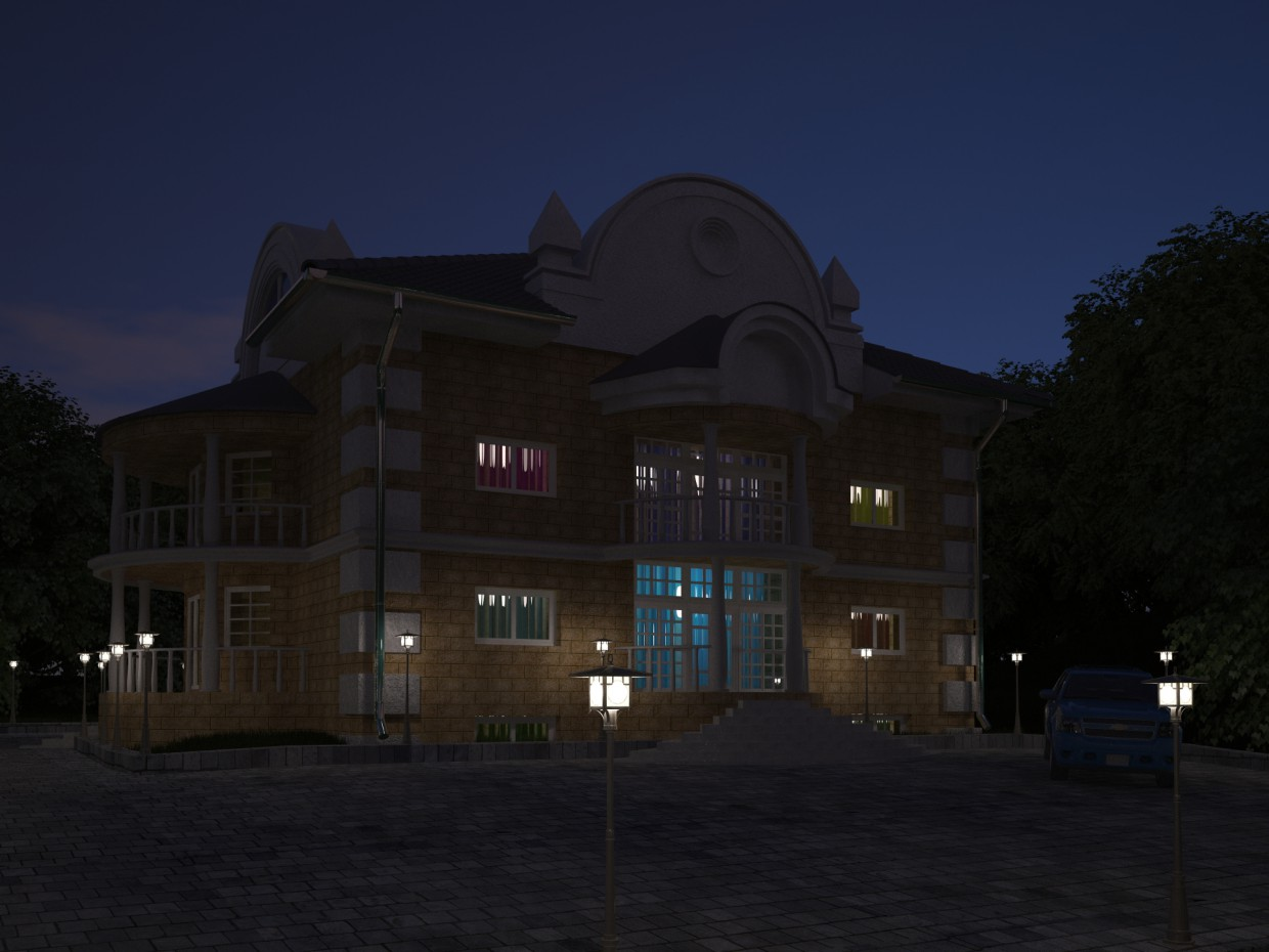 2-storey cottage in 3d max vray 3.0 image