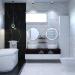 बाथरूम डिजाइन दो संस्करणों में