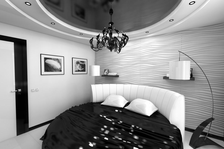 imagen de Dormitorio en blanco y negro en Otra cosa Other