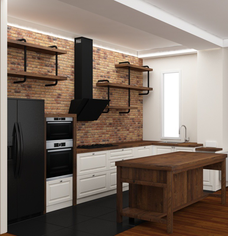 Two same wall. in 3d max vray 3.0 image