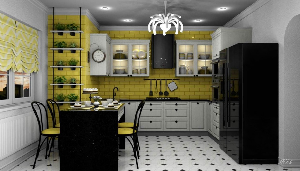 "3d visualization of the project in the Kitchen ""Vanilla"" Other thing, render Other of Наталья Nansi"