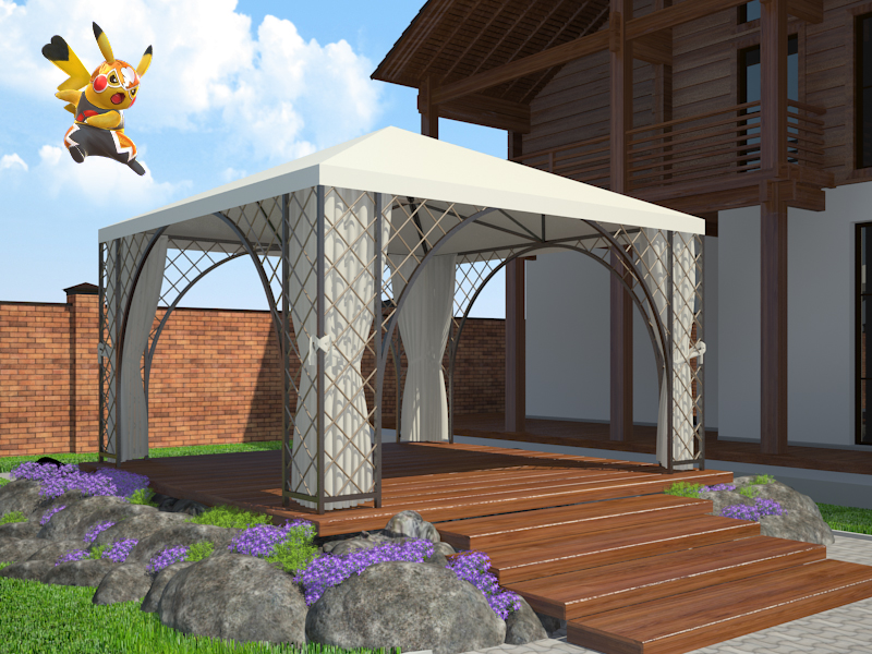 The garden in 3d max vray 3.0 image