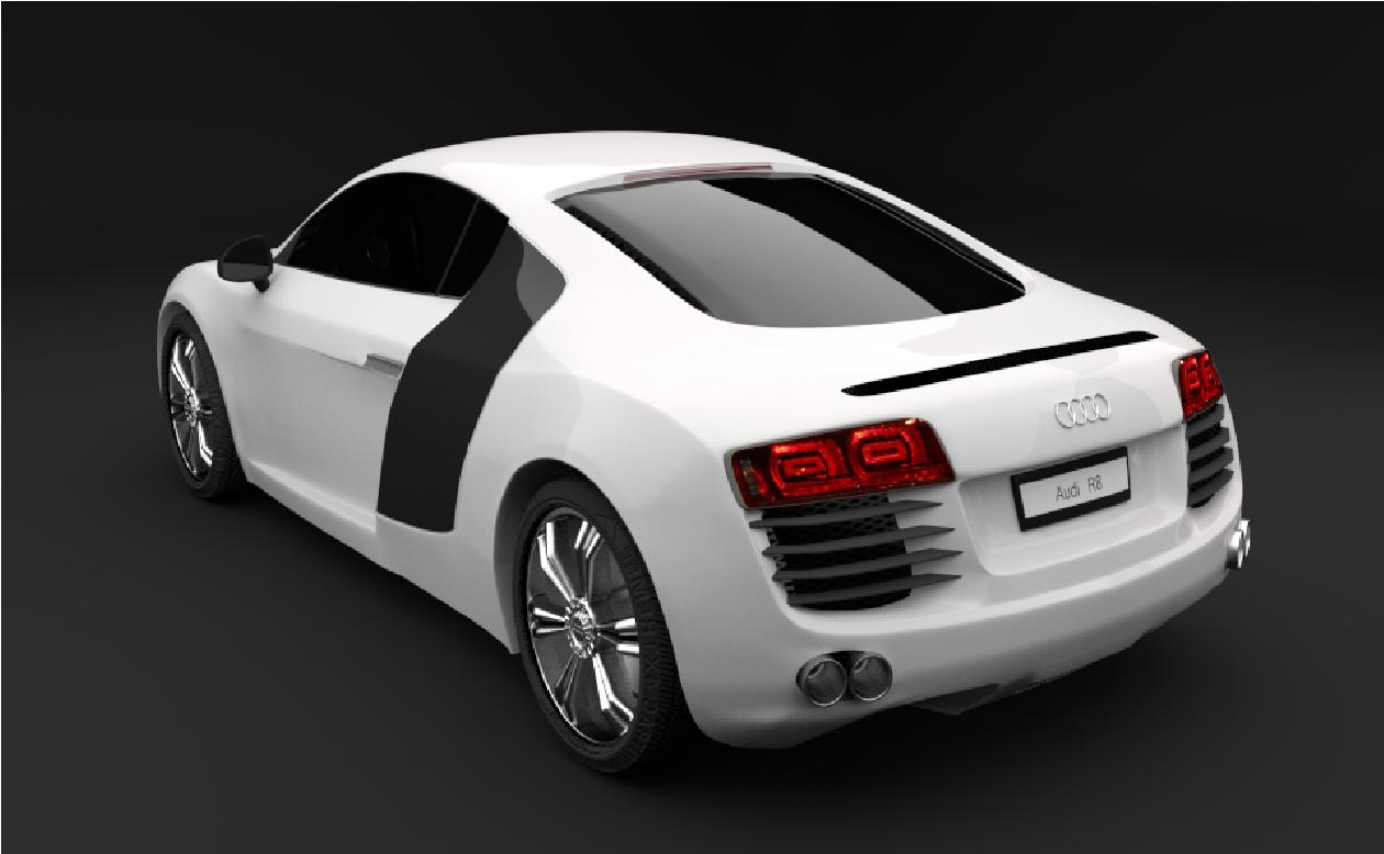 Audi R8 in Blender cycles render image