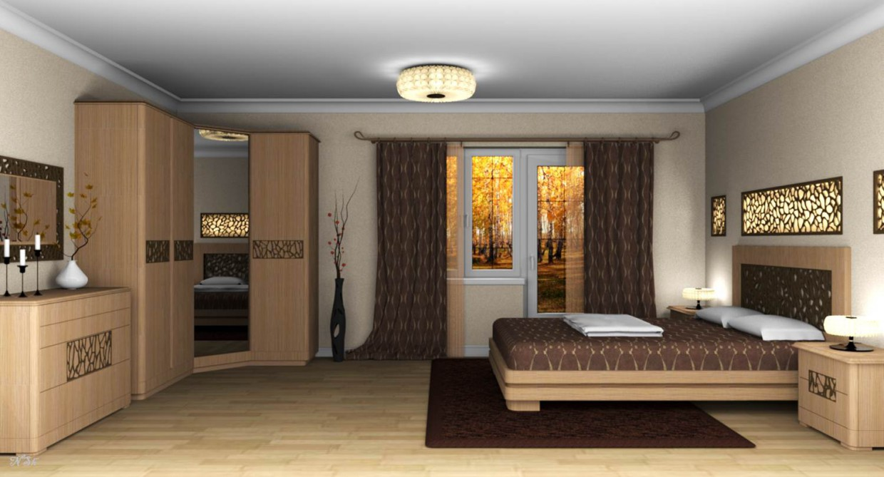 3d visualization of the project in the Bedroom. Other thing, render Other of Наталья Nansi