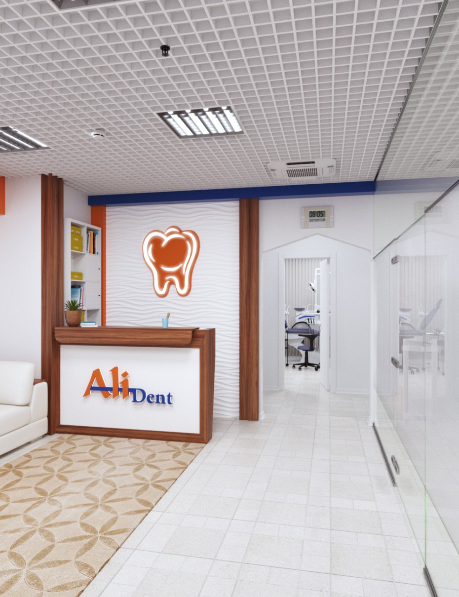 Stomatology clinic/dental clinic in 3d max corona render image