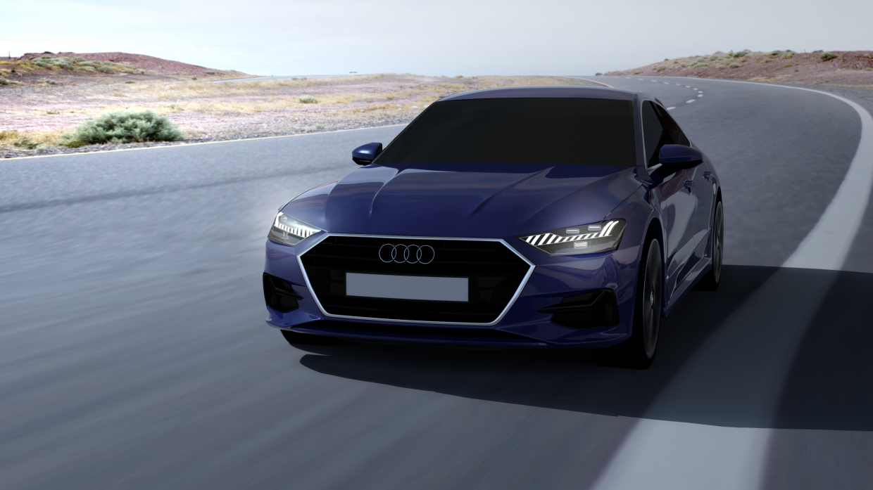 Audi in Blender cycles render image