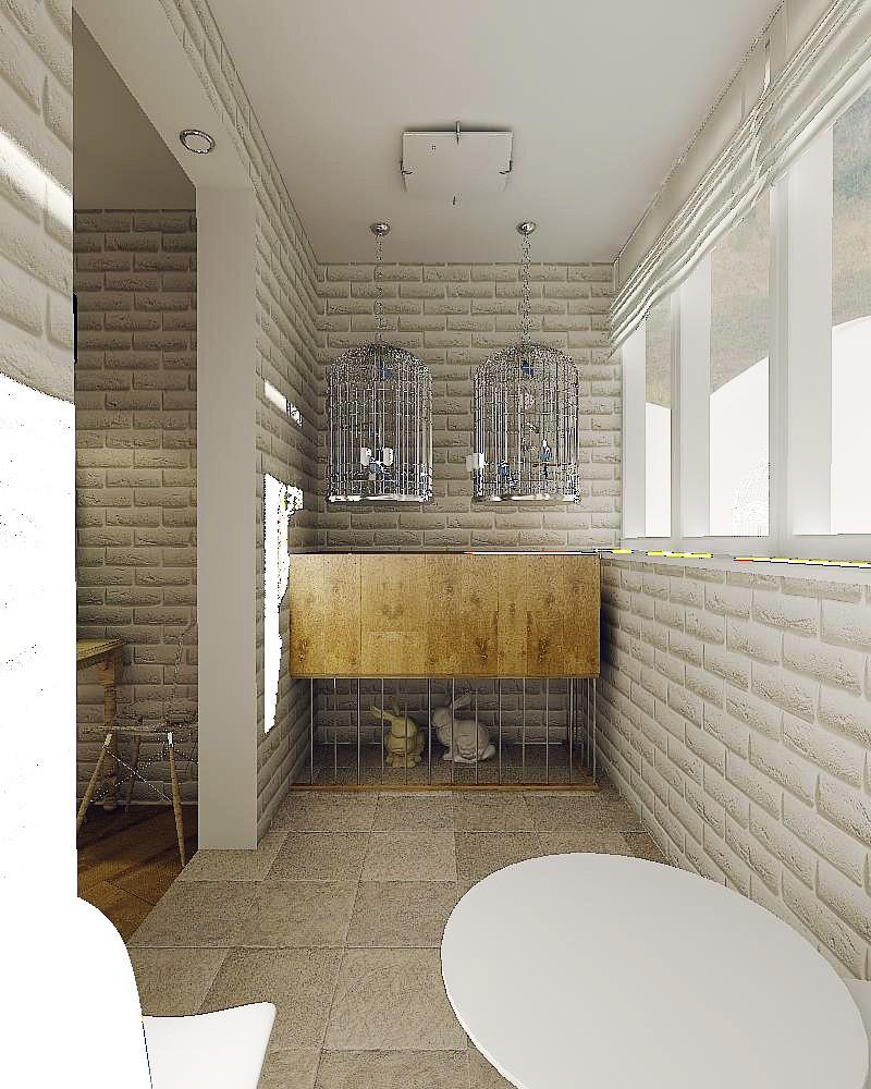 imagen de Loft en un pequeño apartamento en 3d max vray