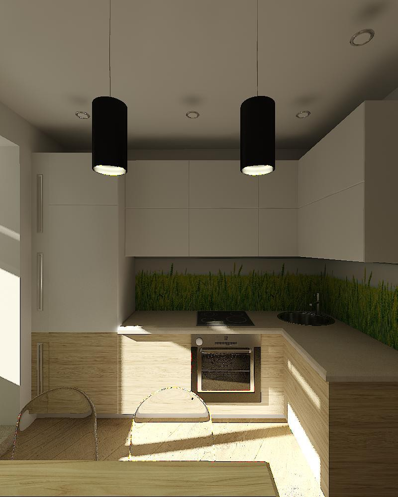 Loft in a small apartment  in  3d max   vray  image