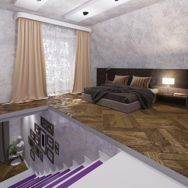 Apartment Studio in 3d max corona render image