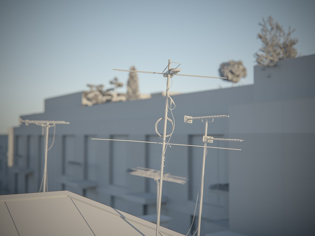 Antenna in Blender cycles render image