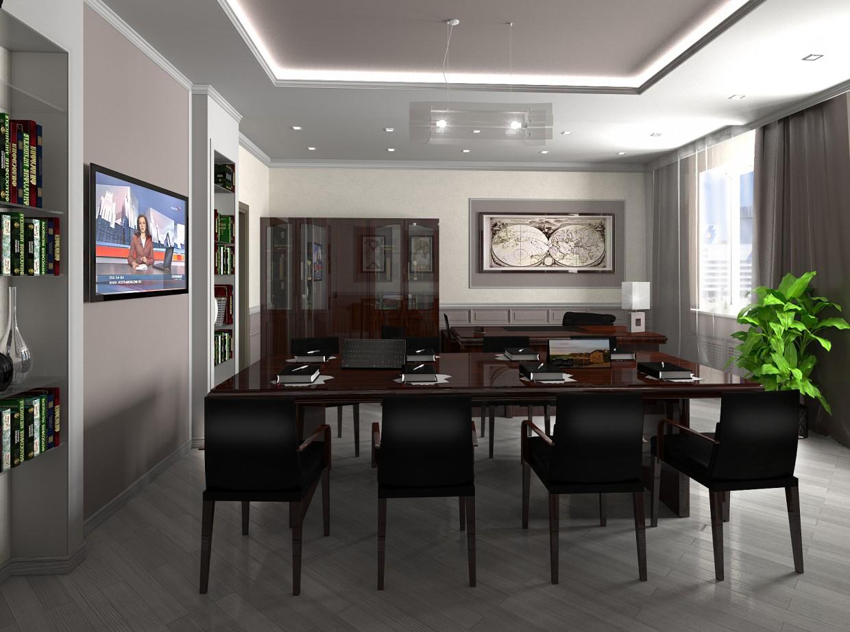 Кабинет директора в 3d max vray изображение