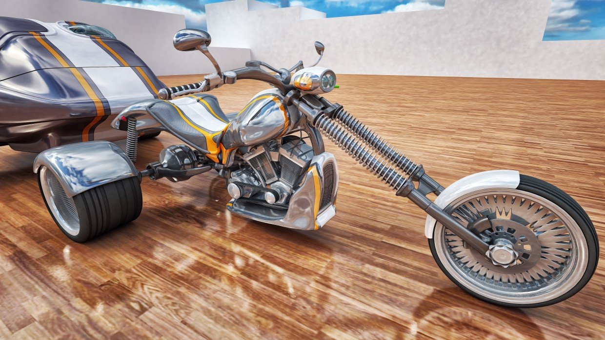 City trike in 3d max vray image