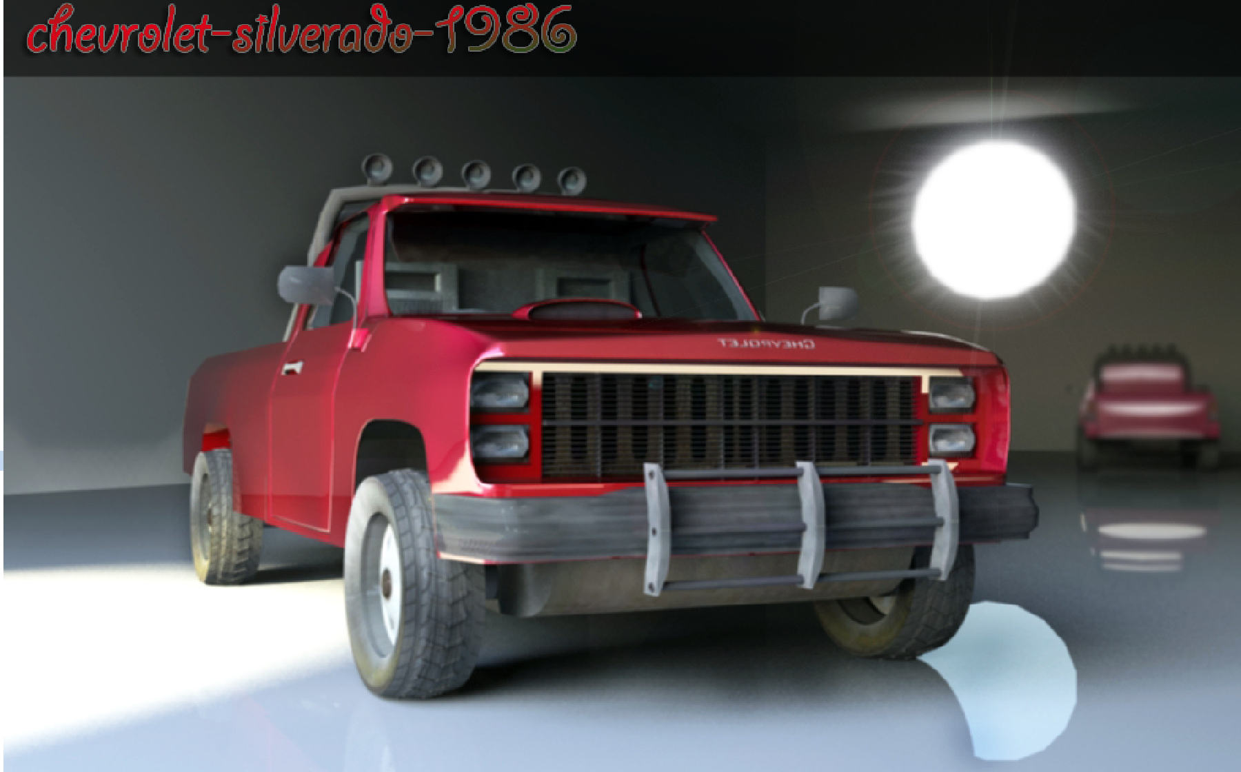 chevrolet-silverado-1986 in Blender cycles render image