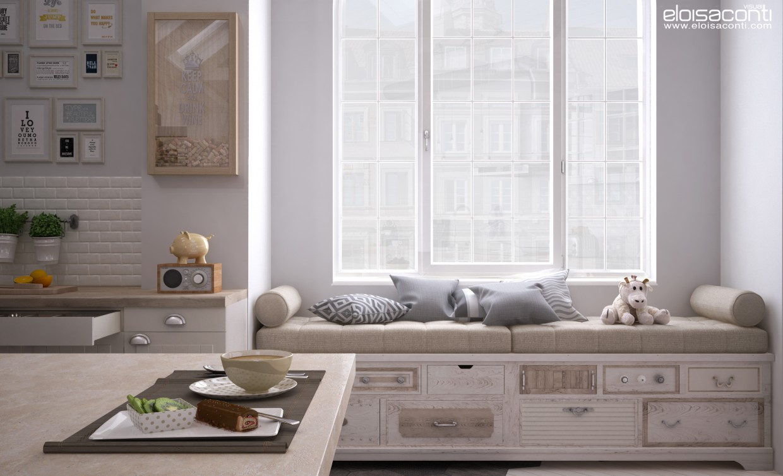 Ikea кухнч: Сніданок ... в Cinema 4d vray зображення