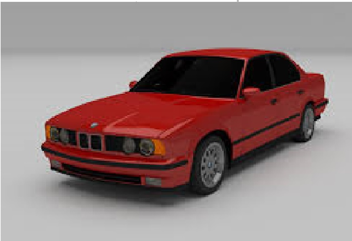 BMW E34 in Blender cycles render image