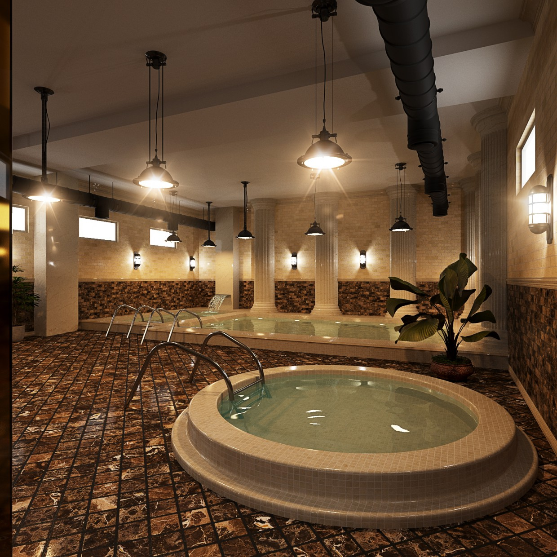 Basseynaya in boarding house. in 3d max corona render image