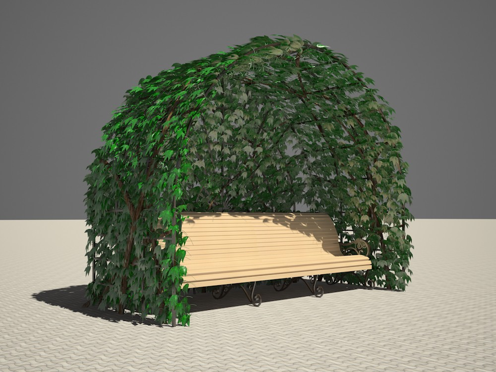 Recreation area in 3d max vray 2.5 image