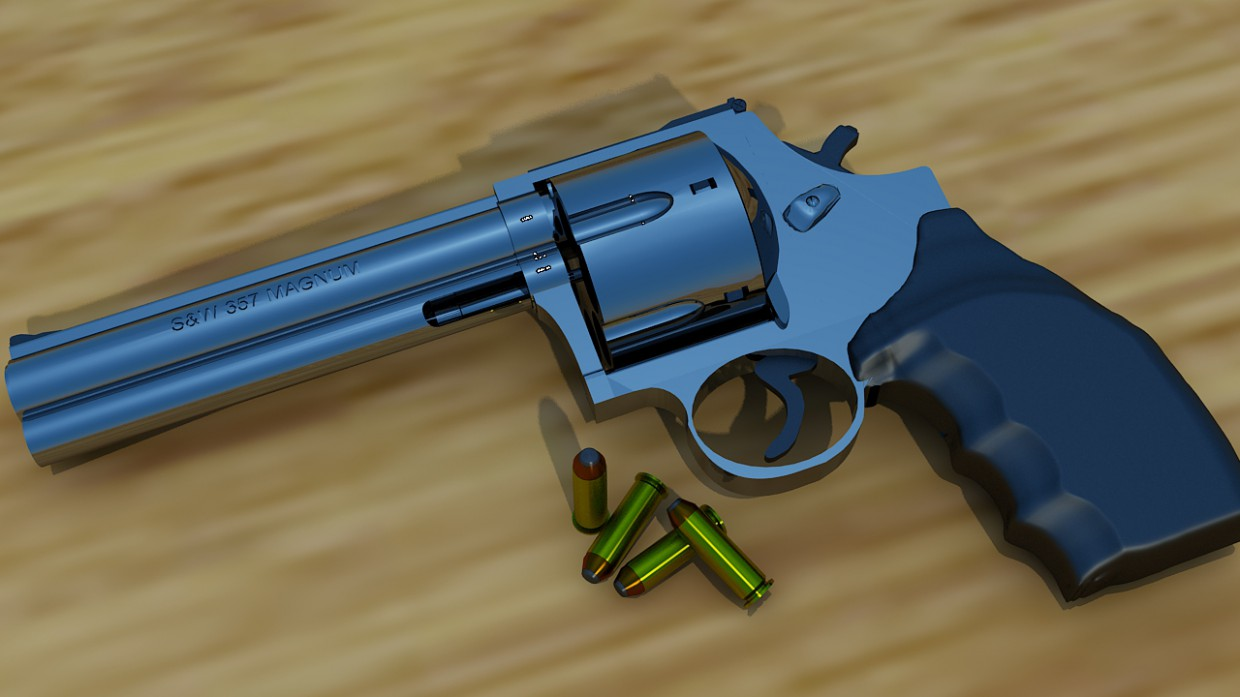 S&W 357 MAGNUM in 3d max vray image