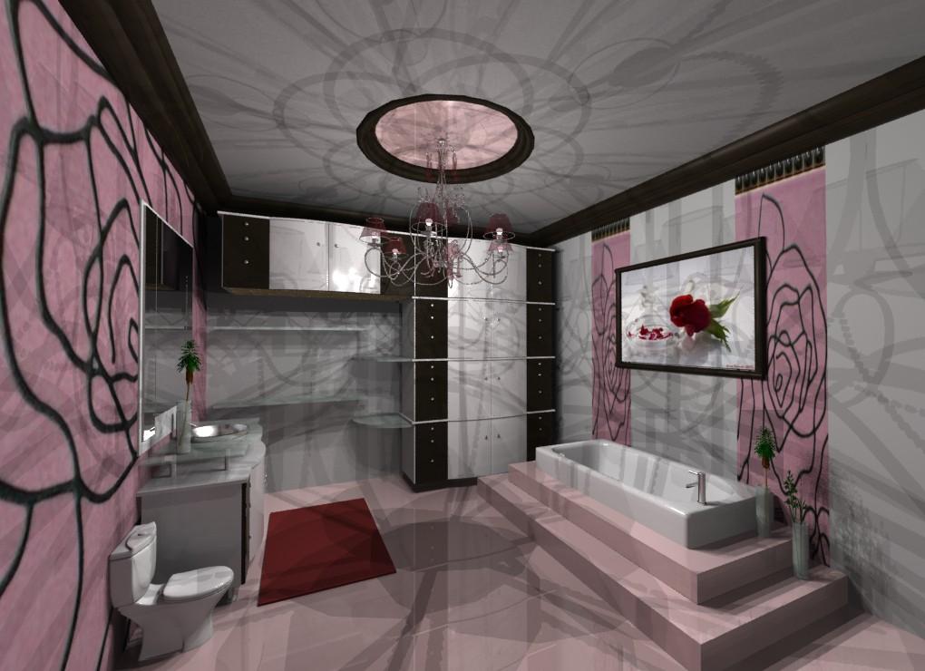 Klassisches Bad in 3d max mental ray Bild
