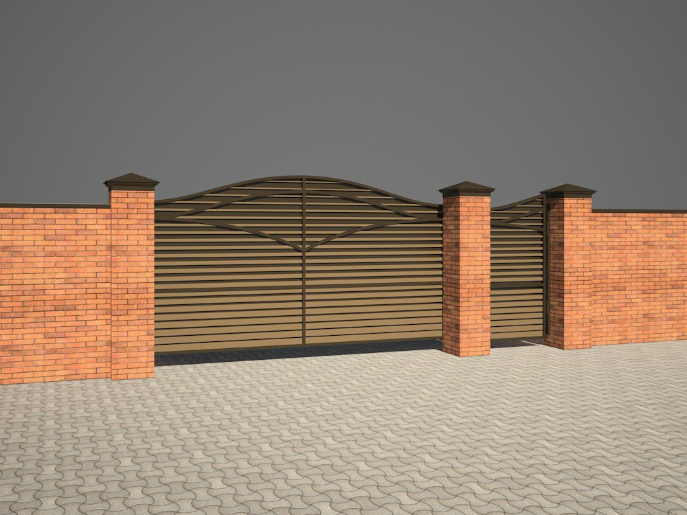 Gate in 3d max vray 2.5 image