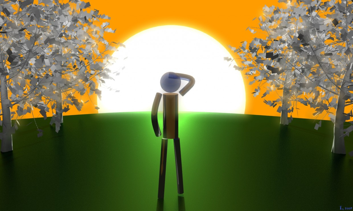 3D Land in 3d max mental ray image