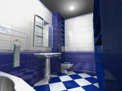 Design of a bathroom in an apartment