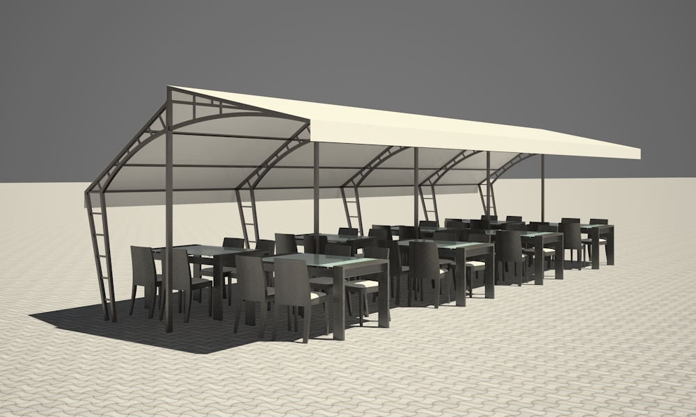 Easy awning in 3d max vray 2.5 image