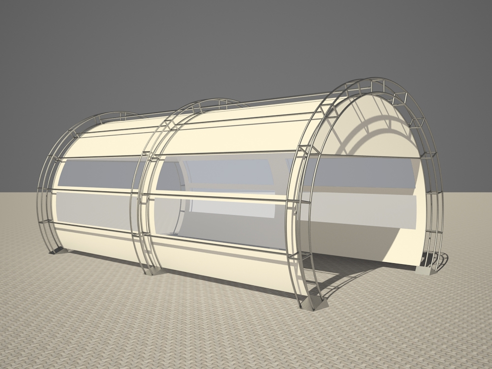 Tunnel in 3d max vray 2.5 image