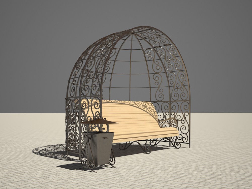 3d visualization of the project in the Pergola 3d max, render vray 2.5 of inna_s