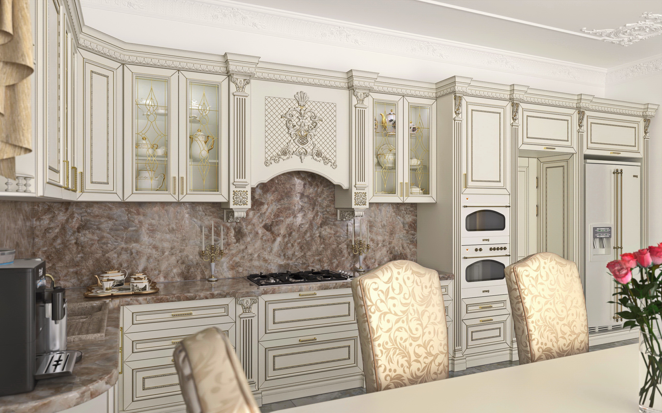 Kitchen-Beautiful house in SolidWorks vray 3.0 image