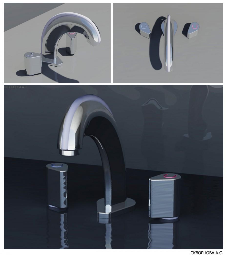 visualisation 3D du projet du Robinet mélangeur Autre chose , rendre vray NastySSS