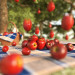 Fruit rain in 3d max corona render image