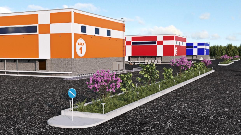 Warehouse complex/warehouse complex in 3d max corona render image