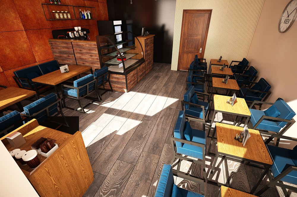 cafe in 3d max vray 3.0 image