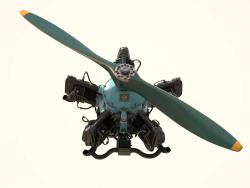 Modello 3D del motore aeronautico M-11