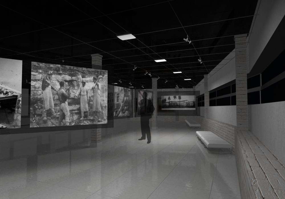 exhibition interior in 3d max vray image