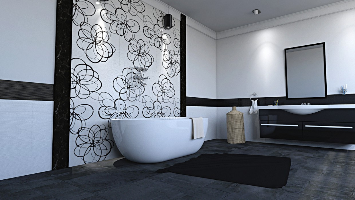 Bath in 3d max mental ray image
