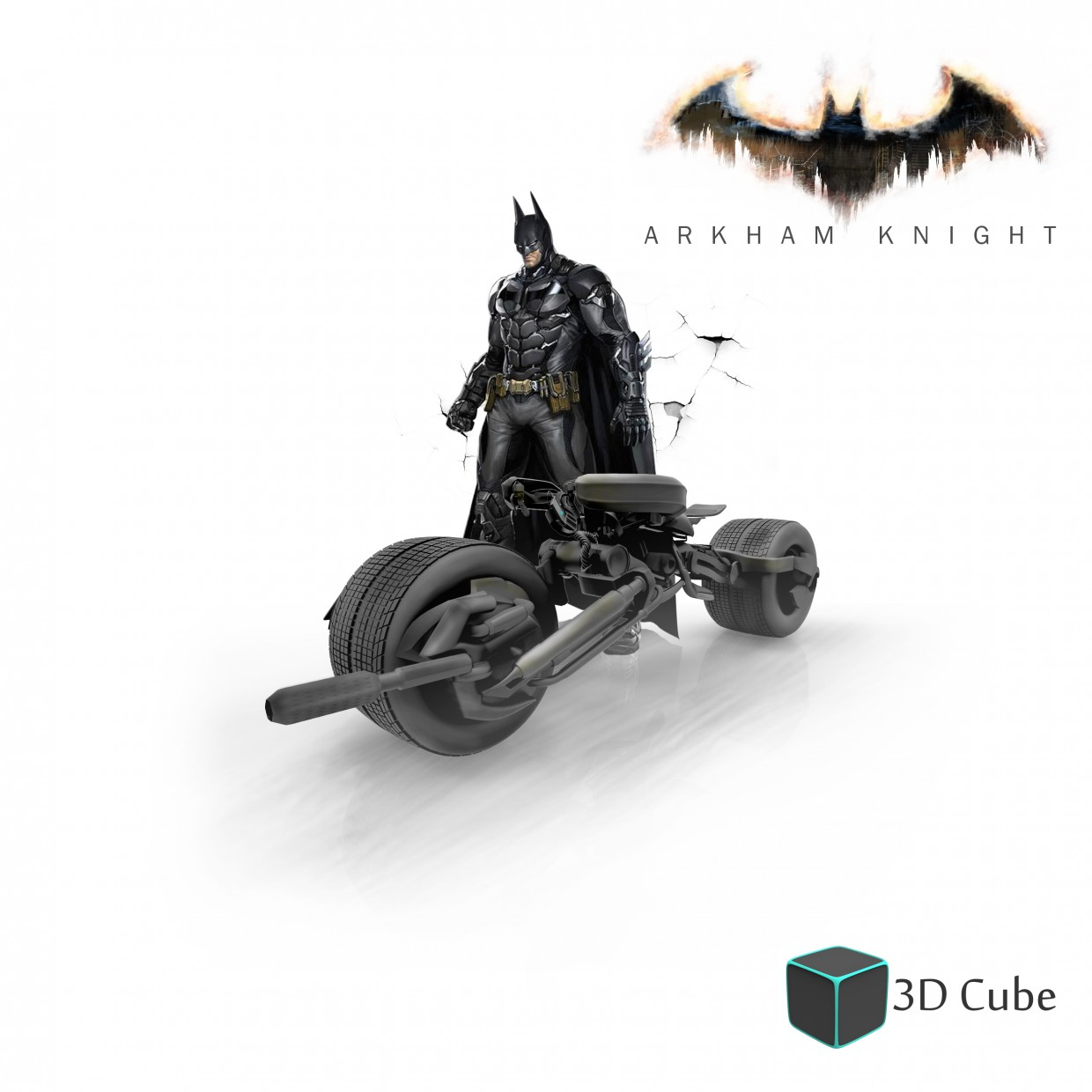 Batpod_ArkhamKnight in 3d max Other image
