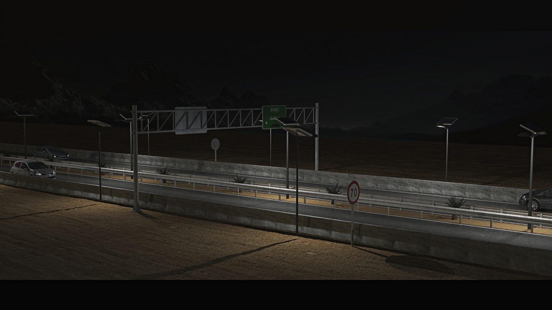 imagen de Carretera en 3d max mental ray