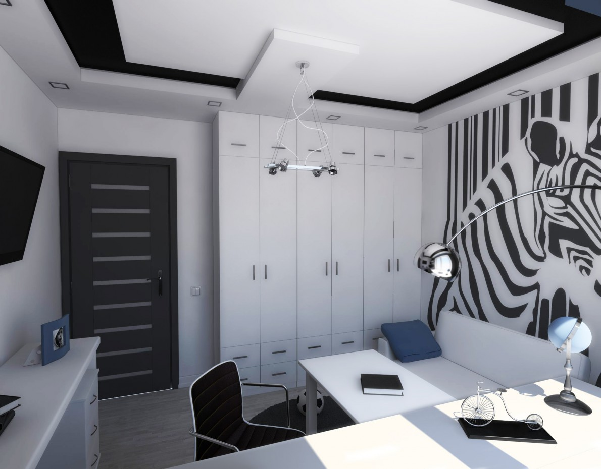 Room for teen  in  3d max   vray  image
