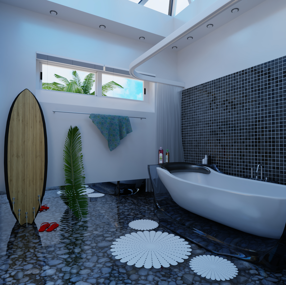 Bathroom in Blender cycles render image