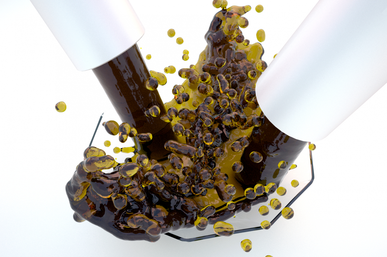 Coffee-colored jam in 3d max vray 3.0 image