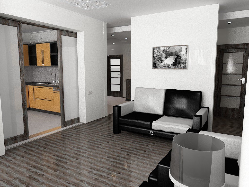 Appartments in 3d max vray image