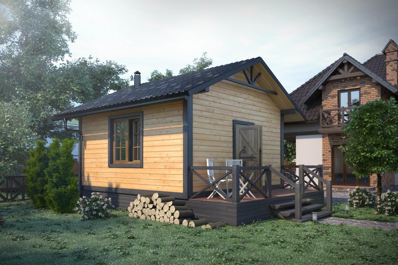 imagen de Casa de baños en 3d max corona render